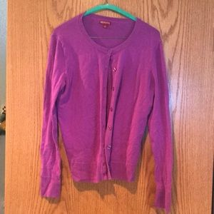 Purple button up cardigan